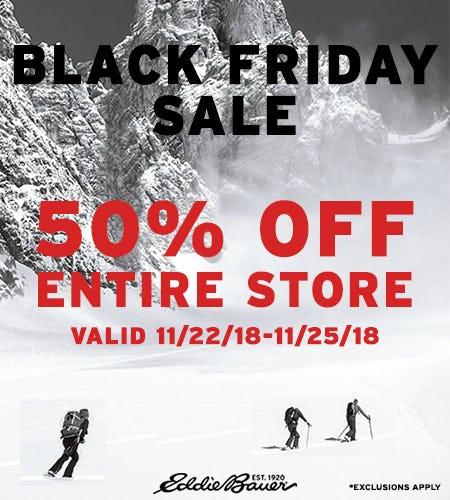 Black Friday Sale - 50% Off from Eddie Bauer