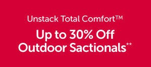 Up to 30% Off Outdoor Sactionals