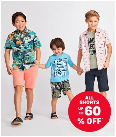 All Shorts up to 60% Off from The Children's Place Gymboree