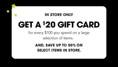 Get a $20 Gift Card from Bloomingdale's