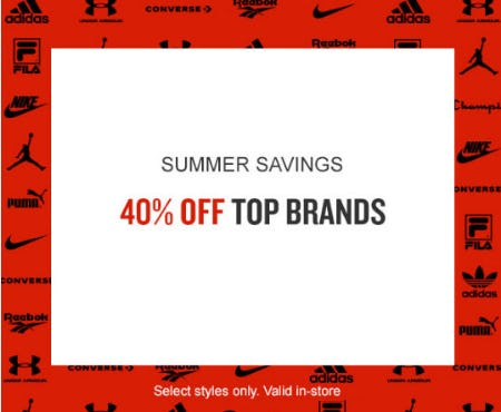 40% Off Top Brands from Finish Line