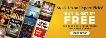 Buy 2, Get 3rd Free The Best Books Handpicked for Every Reader