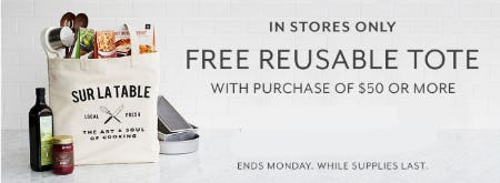 Free Reusable Tote with Purchase