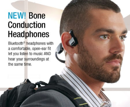 New Bone Conduction Headphones from Brookstone