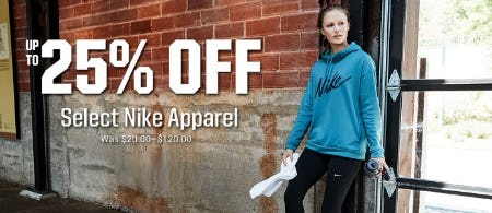 Up to 25% Off Select Nike Apparel