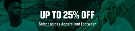 Up to 25% Off Select adidas Apparel and Footwear