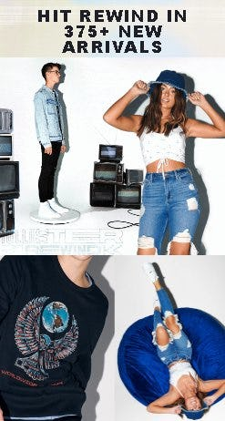 New & '90s-Inspired from HOLLISTER CALIFORNIA/GILLY HICKS BY HOLL