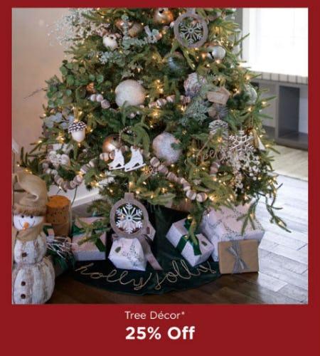 25% Off Tree Decor from Kirkland's
