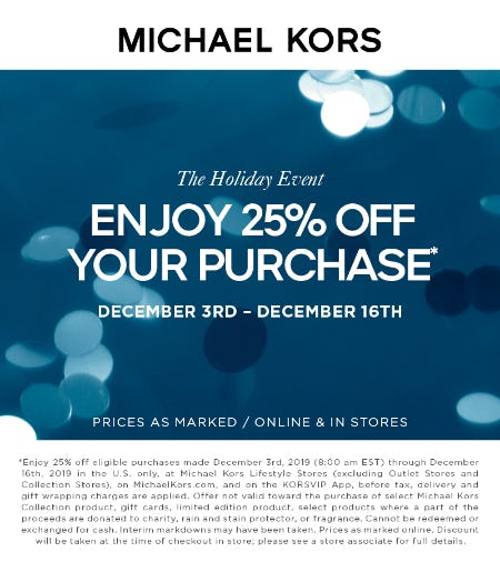 The Holiday Event from MICHAEL KORS