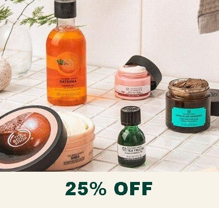 25% Off Regular Priced Products from The Body Shop