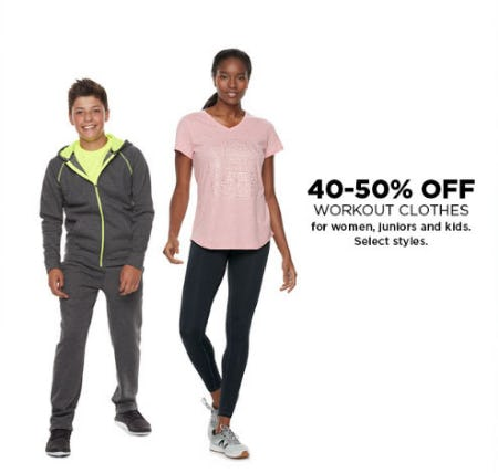 40-50% Off Workout Clothes