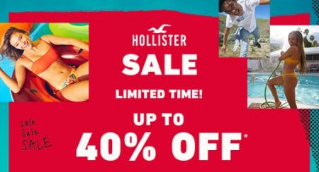 Sale up to 40% Off from Hollister Co.