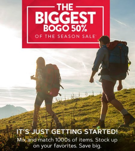 The Biggest BOGO 50% of the Season Sale from GNC