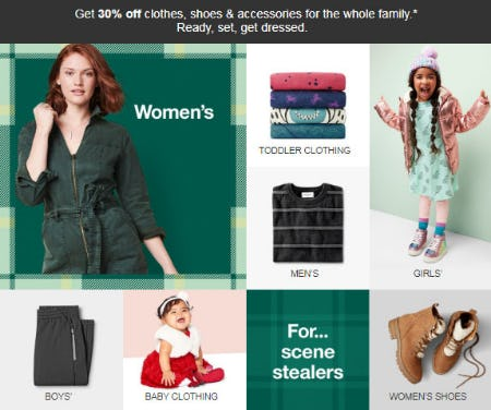 30% Off Clothes, Shoes & Accessories from Target