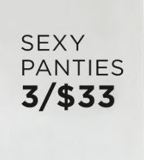 Sexy Panties 3 for $33 from Lane Bryant