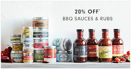 20% Off BBQ Sauces & Rubs from Williams-Sonoma