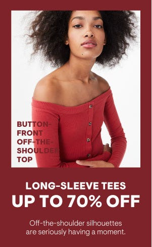 Up to 70% Off Long-Sleeve Tees from Aéropostale