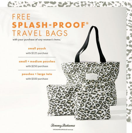 Free Splash-Proof® Travel Bags from Tommy Bahama