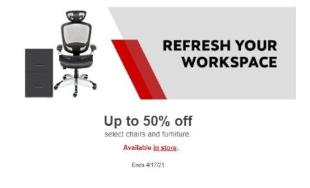 Up to 50% Off Select Chairs and Furniture
