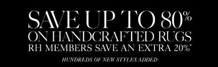 Save Up to 80% on Handcrafted Rugs from Restoration Hardware