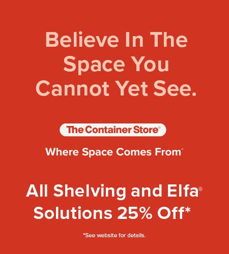The Container Store Shelving Sale