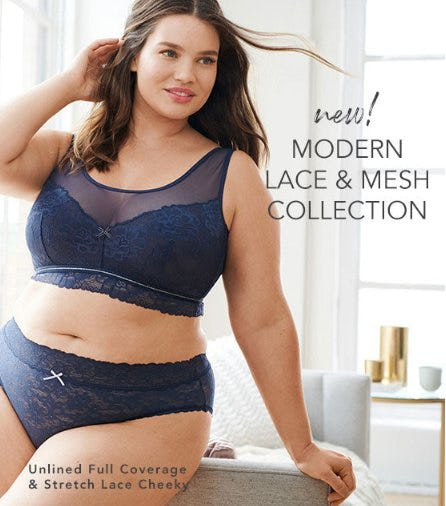 New! Modern Lace & Mesh Collection from Lane Bryant