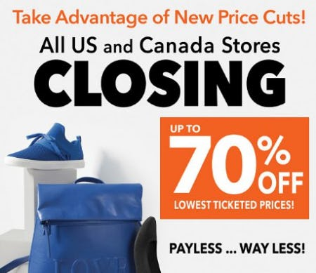 31331d58785 Up to 70% Off Payless Store Closing Sale at Payless ShoeSource ...