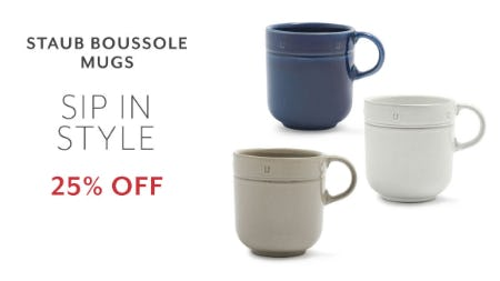 25% Off Staub Boussole Mugs from Sur La Table