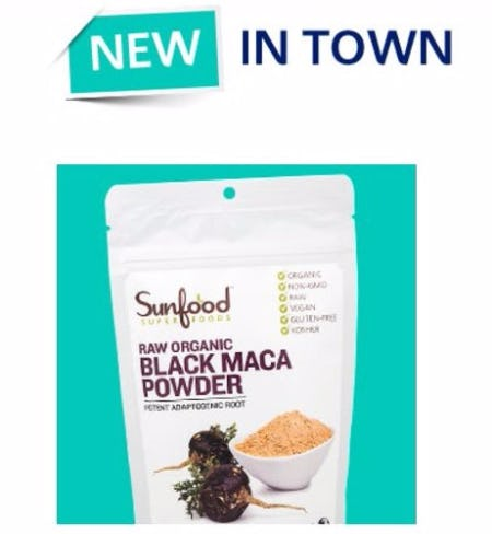New Sunfood Superfoods Raw Organic Black Maca Powder