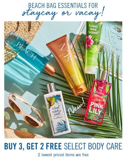 Buy 3, Get 2 Free Select Body Care from Bath & Body Works/White Barn