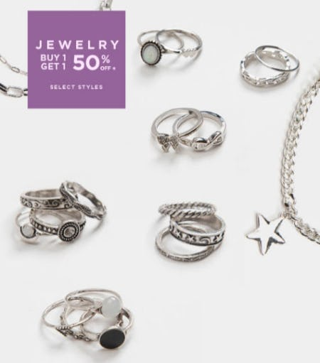 B1G1 50% Off Jewelry from Tillys