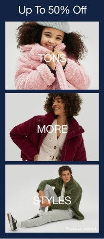 Up to 50% Off Tons More Styles from Gap