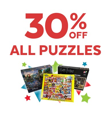 30% off Puzzles from Go! Calendars Games & Toys