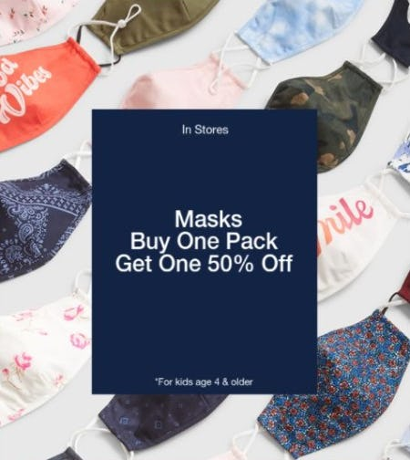 BOGO 50% Off Masks from Gap