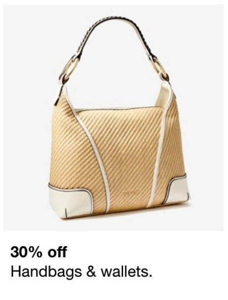 30% Off Handbags & Wallets from Macy's Men's & Home & Childrens