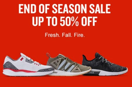 End of Season Sale up to 50% Off from Finish Line