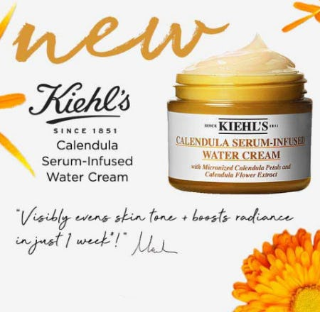 New Kiehl's Calendula Serum-Infused Water Cream from Bluemercury