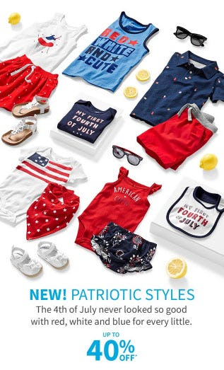 Up to 40% Off Patriotic Styles from Carter's