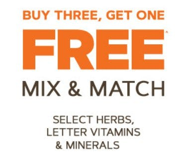 Buy Three, Get One Free from GNC