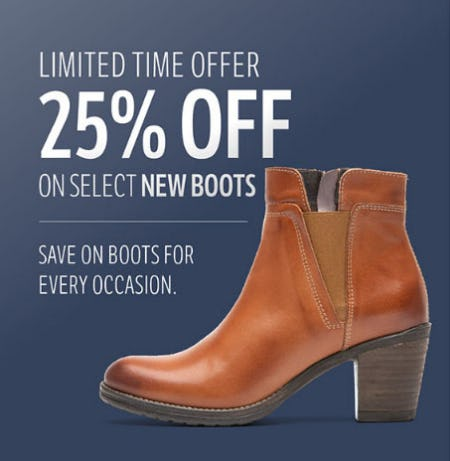 25% Off Select New Boots from THE WALKING COMPANY