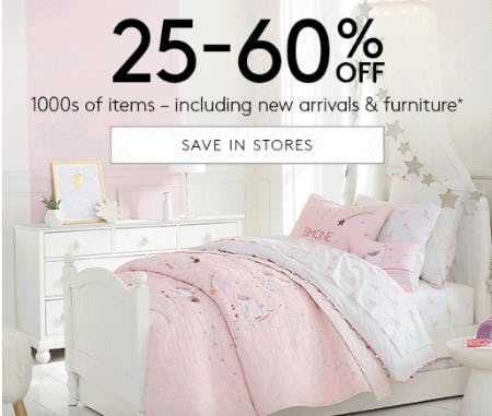25–60% Off 1000s of Items from Pottery Barn Kids