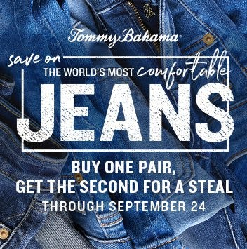 Buy One Pair, Get the Second for 50% Off from Tommy Bahama