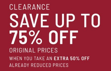 Extra 50% Off Already Reduced Prices from Jos. A. Bank