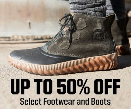 Up to 50% Off Select Footwear and Boots