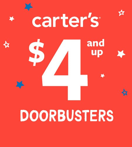 $4 and up Doorbusters* from Carter's