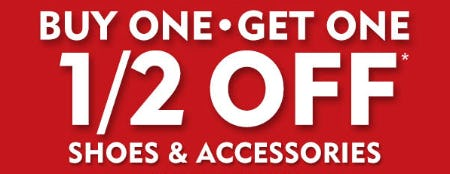 BOGO 1/2 Off on Shoes & Accessories from Shoe Carnival