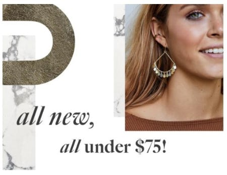 All New, All Under $75