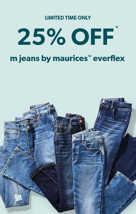 25% Off M Jeans by Maurices Everflex from maurices