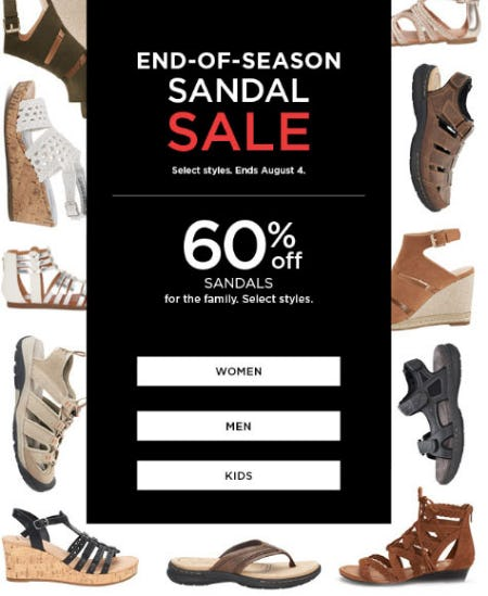 60% Off End-Of-Season Sandal Sale from Kohl's