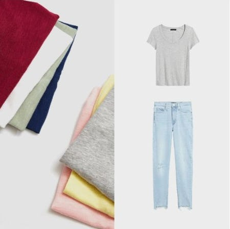 Better Together: Tees and Jeans from Banana Republic